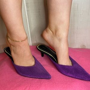 Zara purple kitten heel
